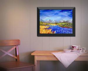 lavender gold wall framed